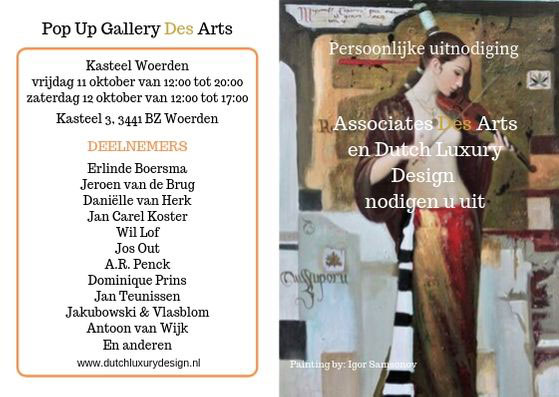 uitnodiging expositie associates des arts